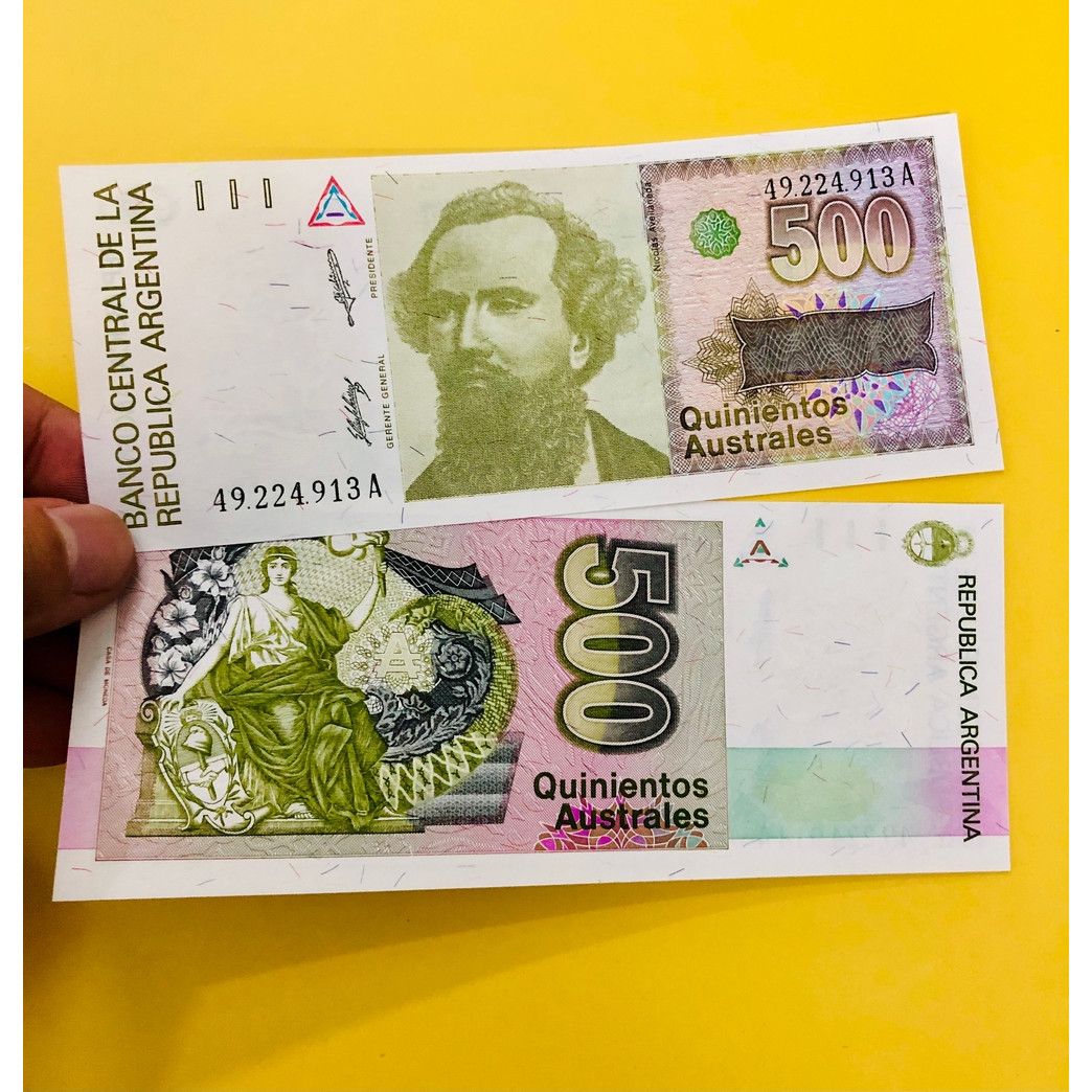 Tiền giấy Argentina 500 Pesos xưa - mới 100% UNC