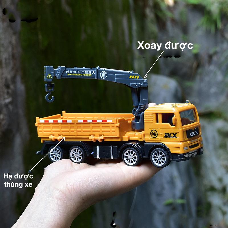 Xe đồ chơi mô hình KAVY xe tải nâng hàng cho bé chất liệu nhựa an toàn, kích thước lớn