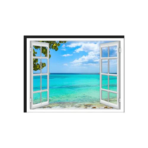 Tranh dán tường cửa sổ 3D T3DMN 026