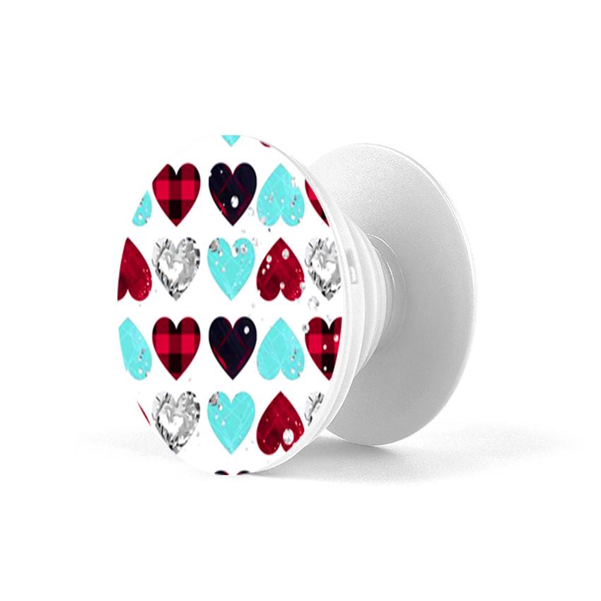 Gía đỡ điện thoại đa năng, tiện lợi - Popsockets - In hình HEART 07 - Hàng Chính Hãng