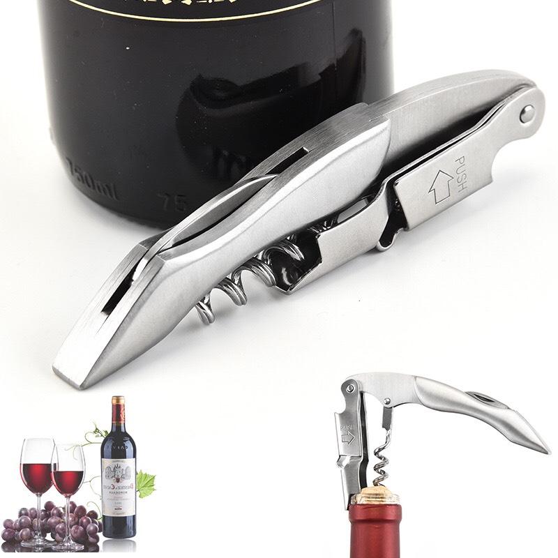 Dụng Cụ Mở Nắp Chai Rượu Vang Inox Cao Cấp #304 - Thép Không Gỉ