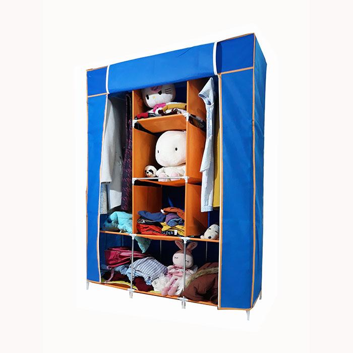 Tủ vải AVC khung sắt không gỉ, loại 3 buồng, 8 ngăn (Màu xanh)- Hàng Việt Nam
