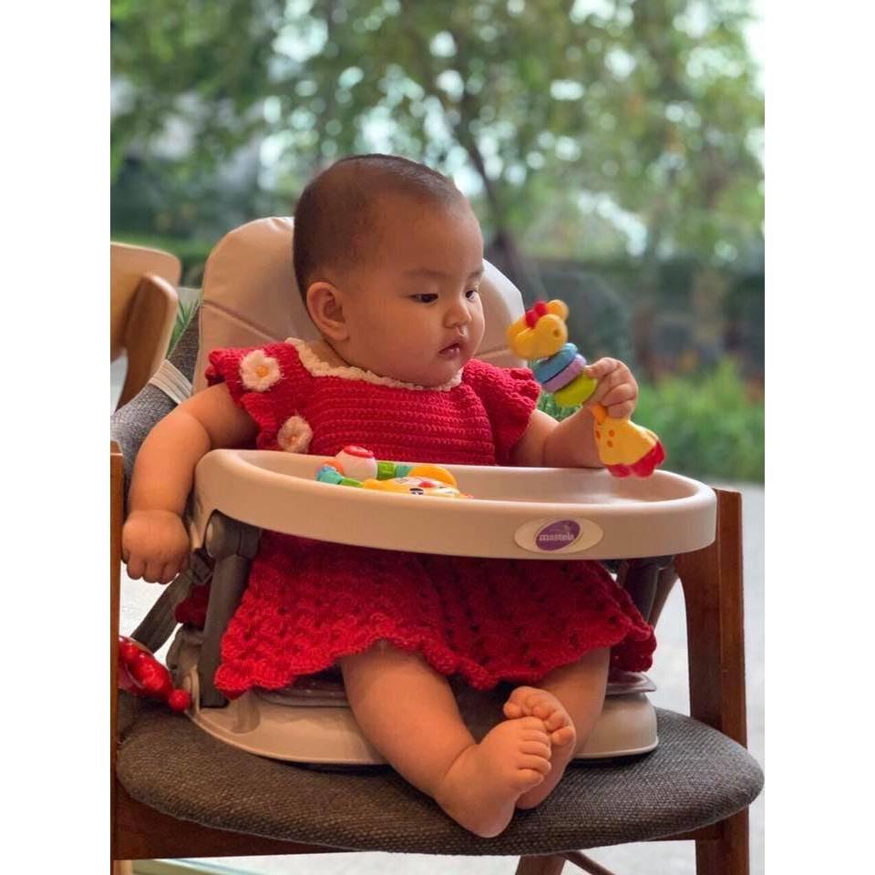 Ghế ăn dặm có nệm cho bé đi du lịch Mastela 1013 ăn dặm kèm mặt bàn, thiết kế thông minh tùy chỉnh độ cao- BPA FREE
