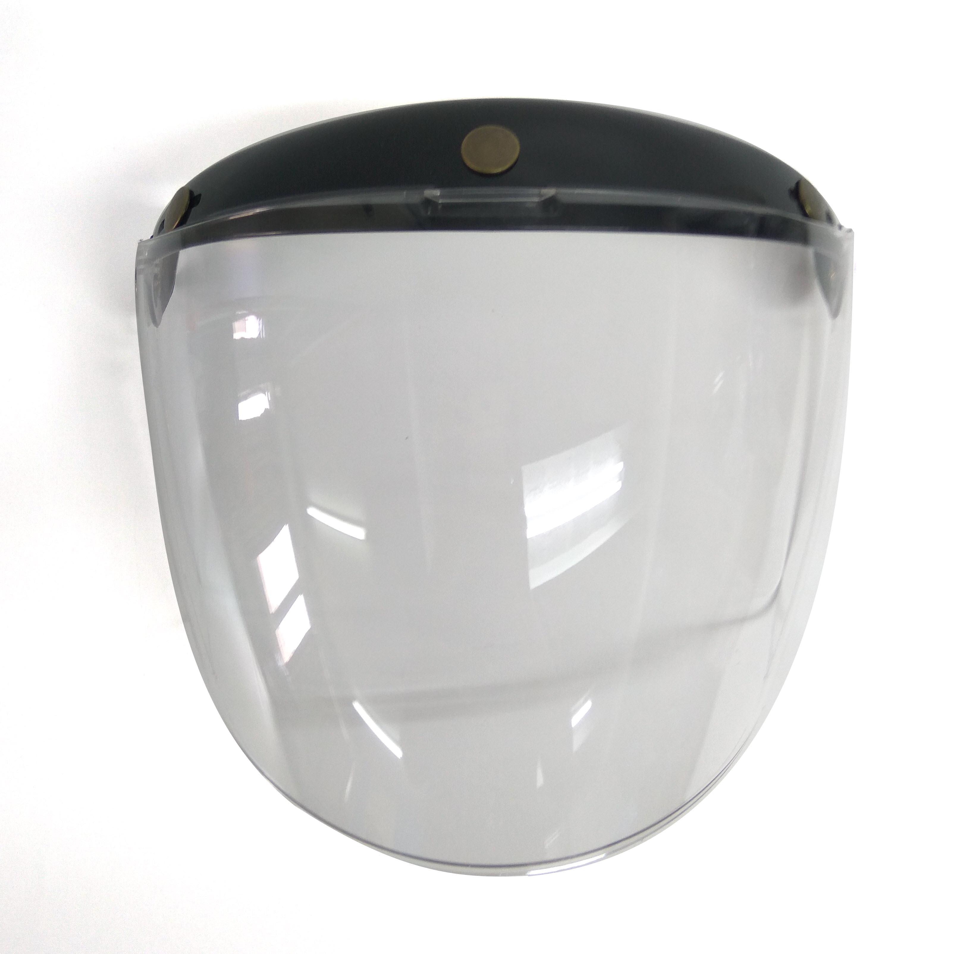 Kính mũ bảo hiểm SUNDA CA-110 loại dài gắn cho các mũ có 3 khuy bấm trên đầu