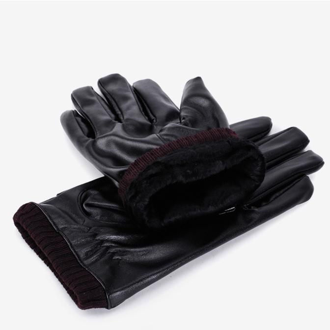 Găng tay da nam nữ lót lông cực ấm – cảm ứng Smart phone siêu tiện lợi