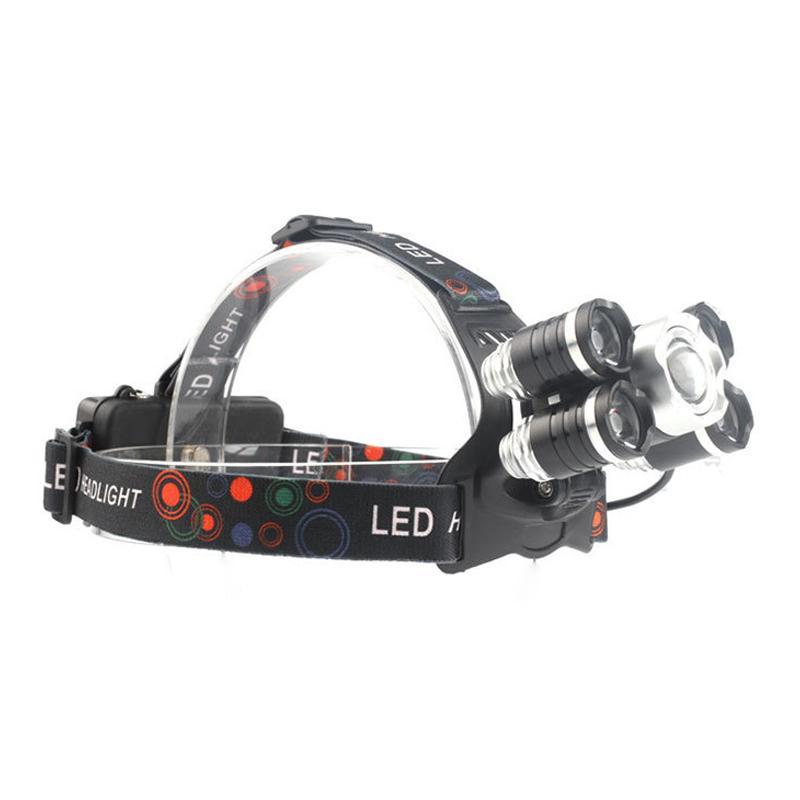 Đèn Pin đội đầu 5 bóng led siêu sáng kèm 2 pin và sạc