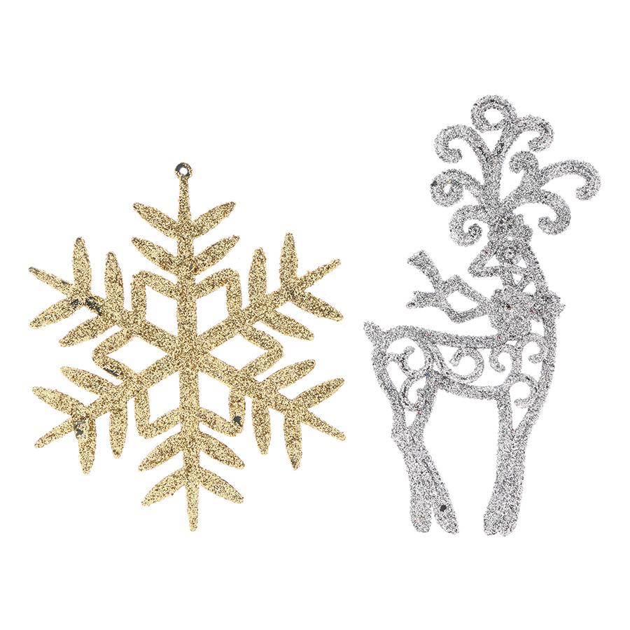 Combo 2 Hình Kim Tuyến Trang Trí Noel Nhiều Màu - Mẫu Ngẫu Nhiên