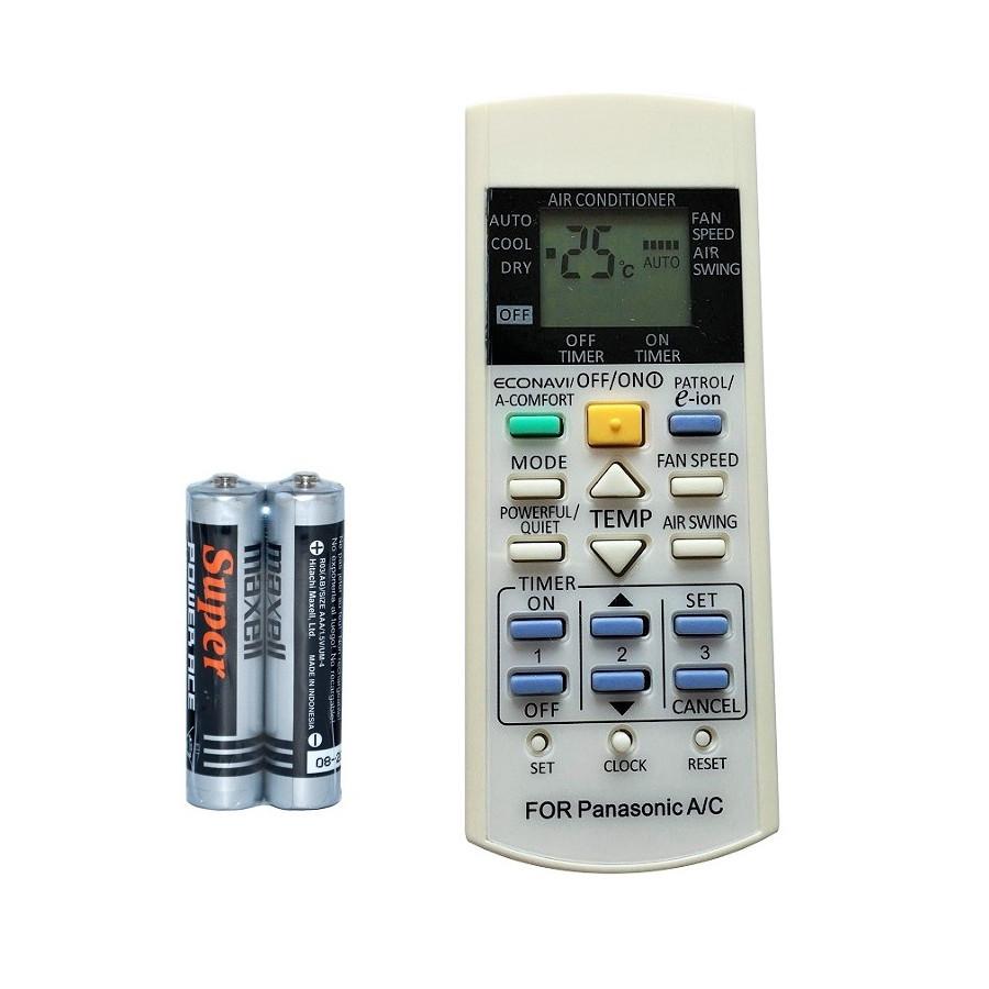 Remote Đa Năng Điều Khiển Nhiều Model Máy Lạnh, Điều Hòa Panasonic (Kèm Pin Maxell)