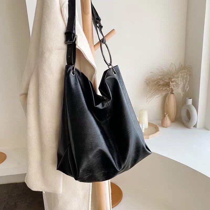 Túi xách nữ - Túi tote da trơn mềm dày dặn đựng vừa A4