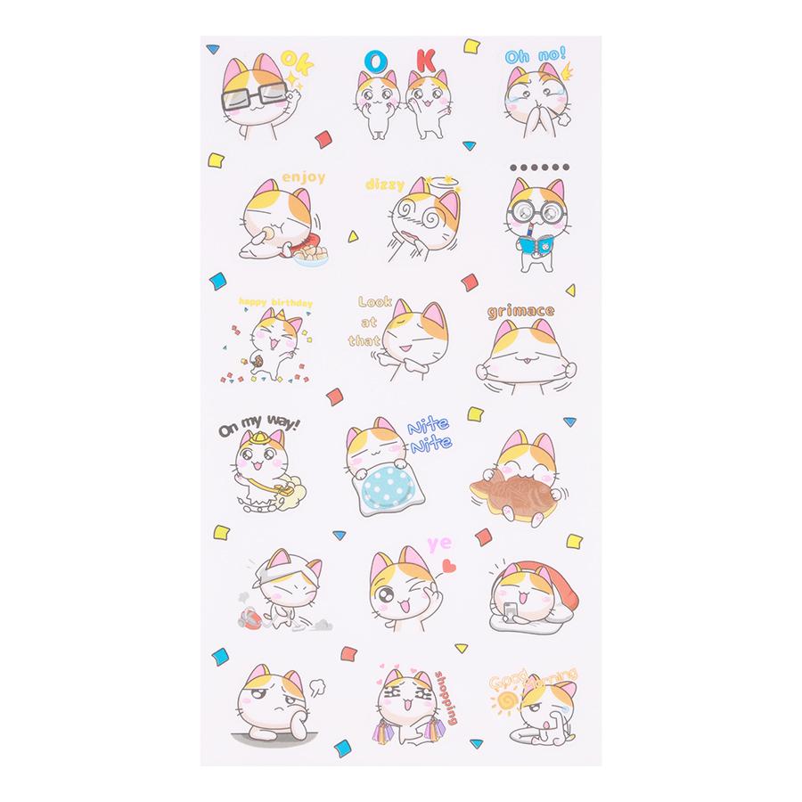 Bộ 6 Tấm Sticker Dán Trang Trí - Orange Cat