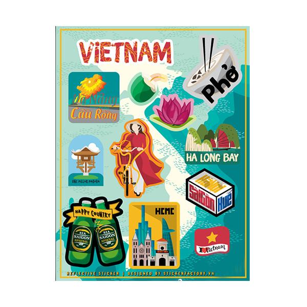 Việt Nam - Reflective Sticker hình dán phản quang 3M Premium