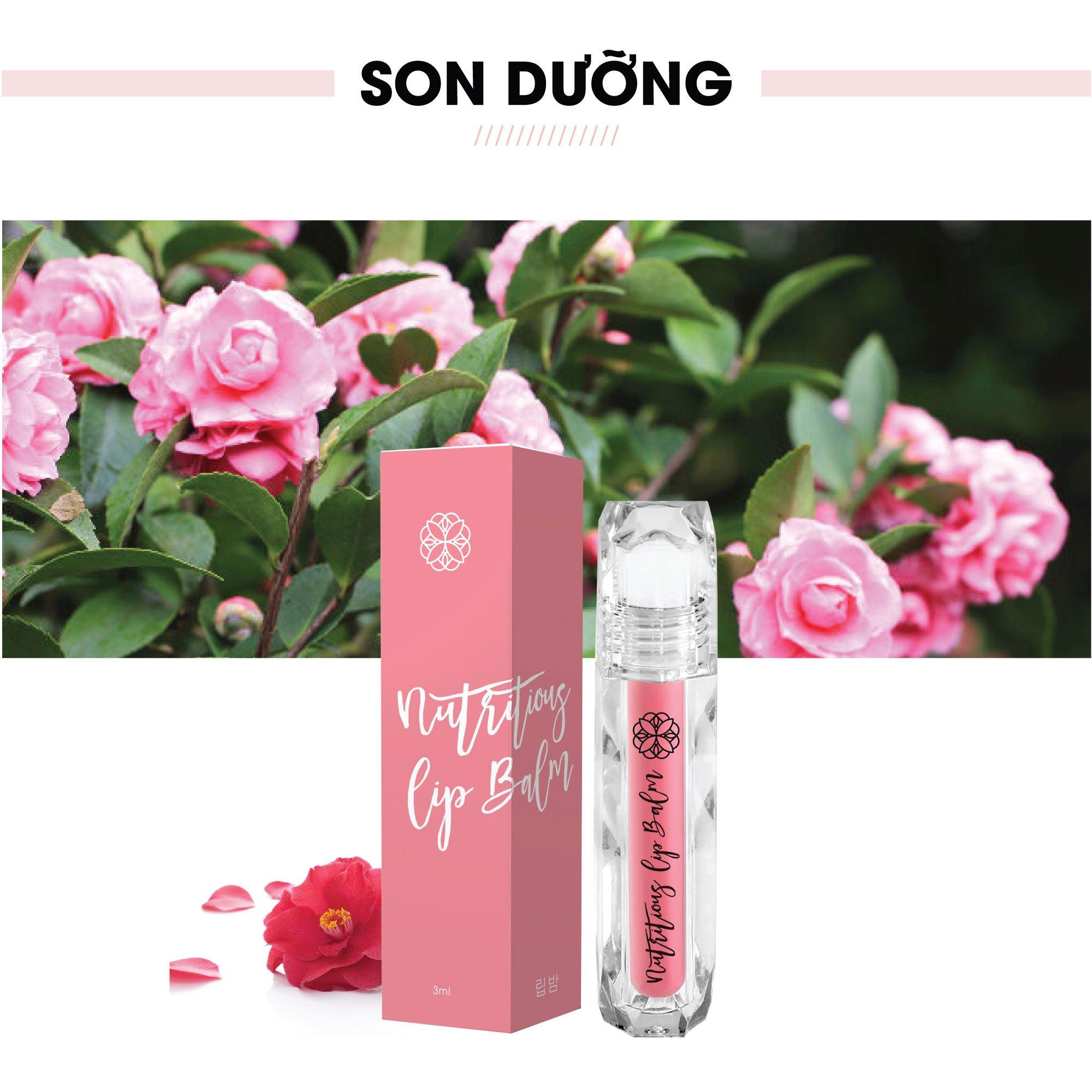 Son dưỡng môi Truesky màu hồng nhạt giúp môi hồng hào, giảm tình trạng thâm môi và nứt nẻ 3ml - Nutritious Lip Balm
