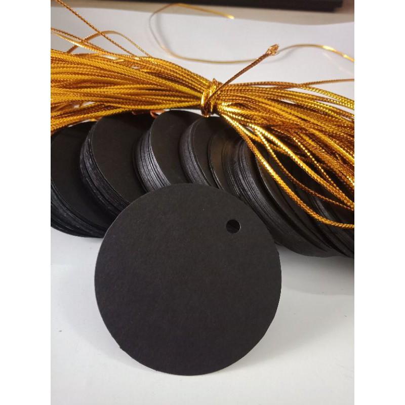 tag trơn tròn  đen-100c+20m dây