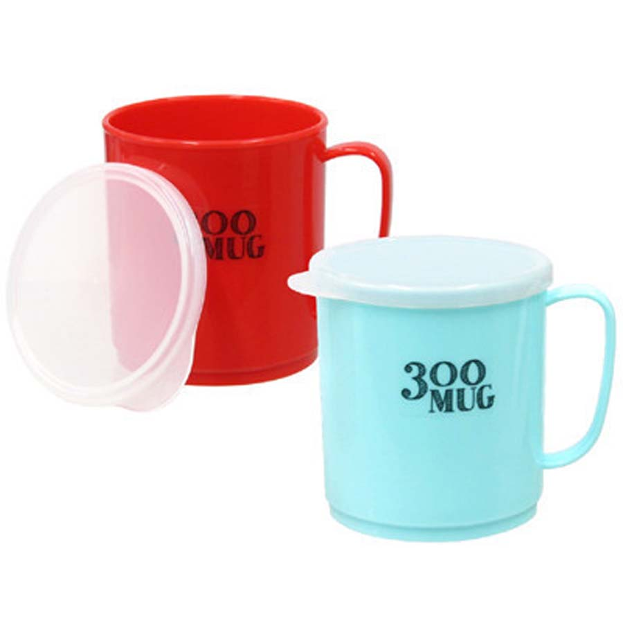 Bộ 3 cốc uống nước có nắp 300mL - Hàng nội địa Nhật