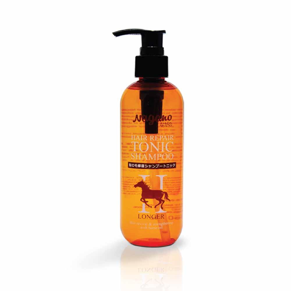 Dầu Gội Phục Hồi Tóc Chiết Xuất Dầu Ngựa Nagano 250ml - Hair Repair Tonic Shampoo Nagano 250ml - Phục hồi tóc hư tổn và nuôi dưỡng da đầu khỏe mạnh