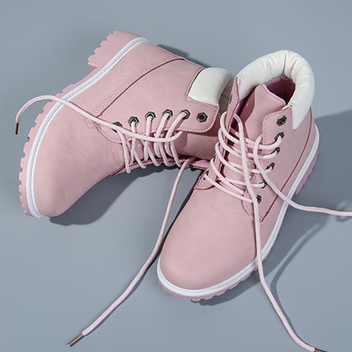 Giày Boots Nữ Cổ Cao Chất Da Siêu Mềm Mịn Phong Cách Cá Tính