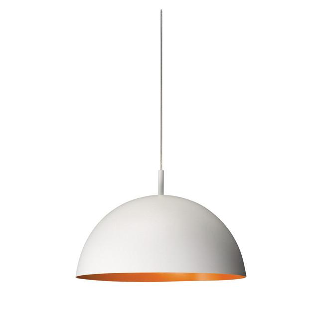 Đèn thả trang trí bàn ăn, nội thất mũ cối lòng vàng - Tặng kèm bóng LED - Trắng