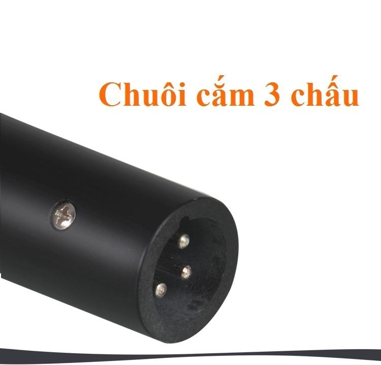 Micro có dây 3.5 mét AK319 cho Âm Li Loa Kẹo kéo jack cắm 6.5mm PF11 Đen