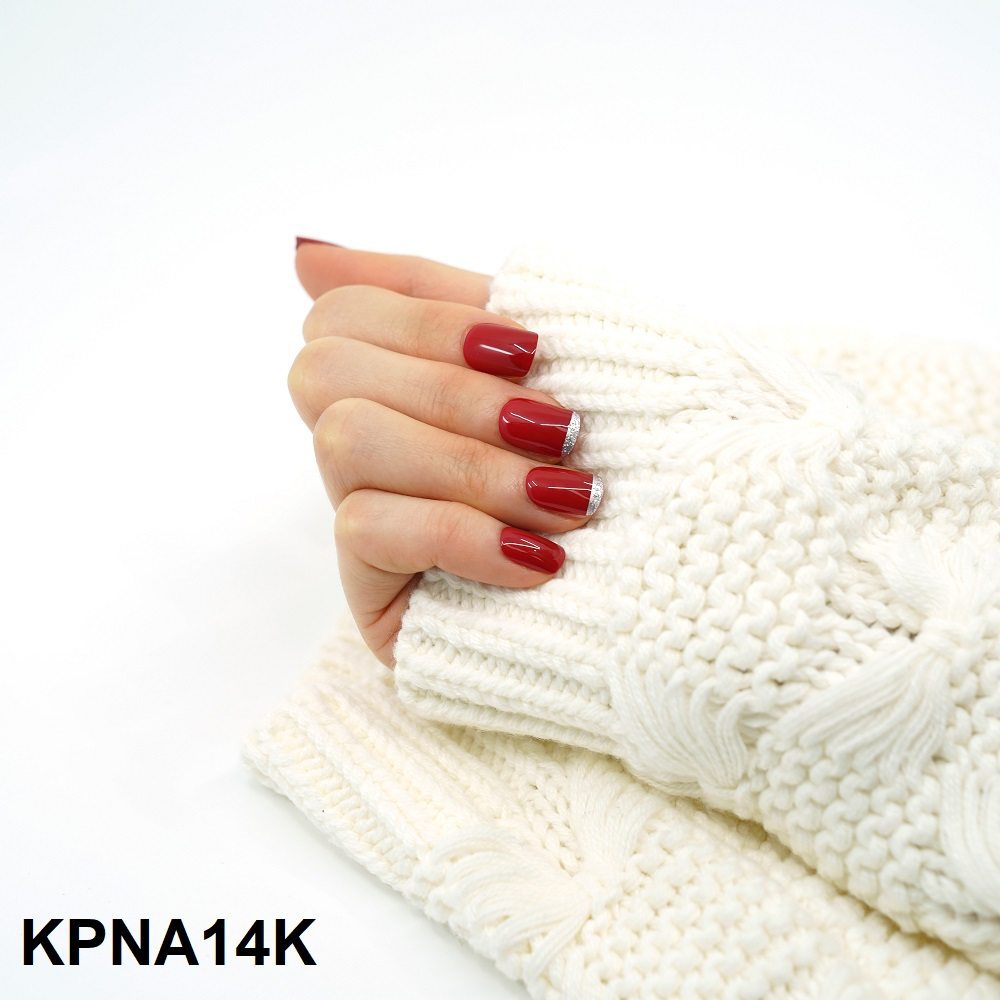 Bộ 30 Móng Tay Gel Dán Press & Go Kiss New York Nail Box - Scarlet (KPNA14KA)