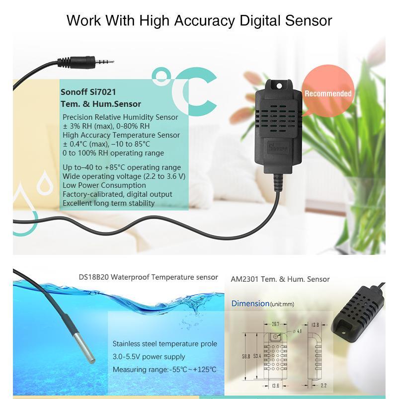 Đầu dò nhiệt độ, độ ẩm Sonoff Sensor AM2301