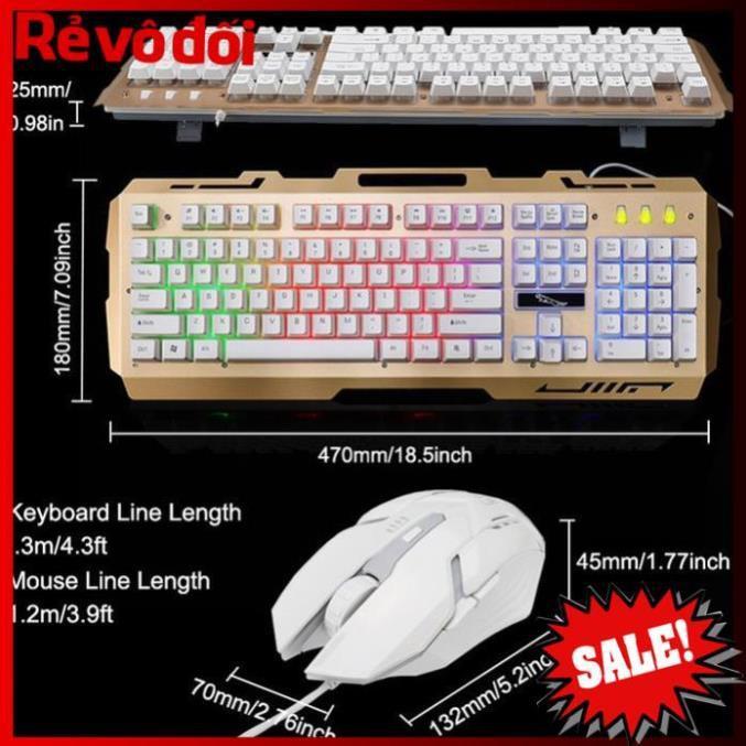 Bàn phím giả cơ G700 siêu nhay, bàn phím chơi game, tặng kèm chuột quang