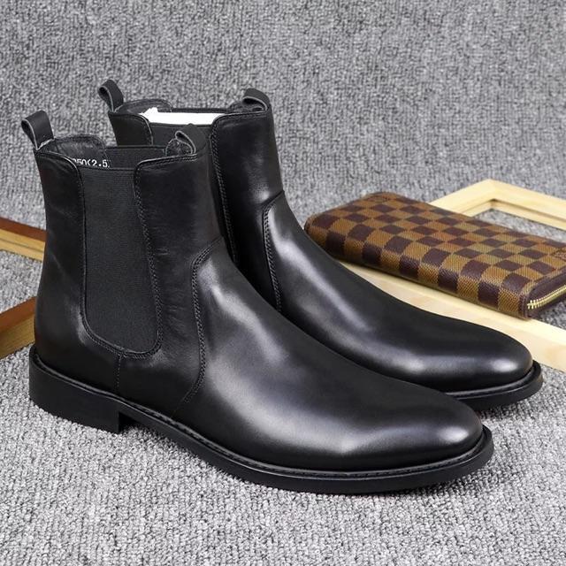 Giày Nam Chelsea Boots Tăng Chiều Cao Cổ Lửng Đẳng Cấp BT28