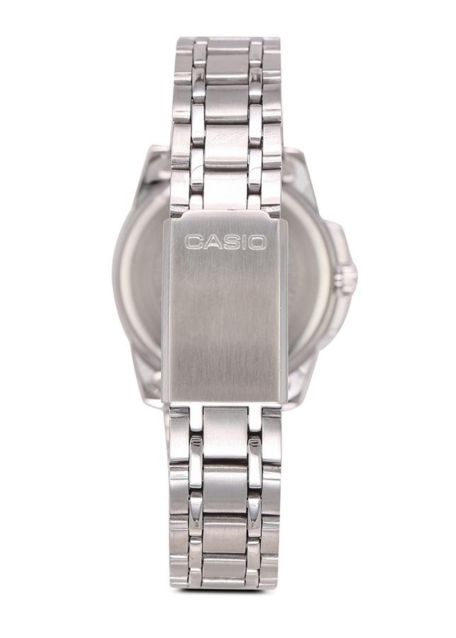 Đồng hồ Casio Pin Nữ dây Kim loại kính Cứng LTP-1314D-1AVDF