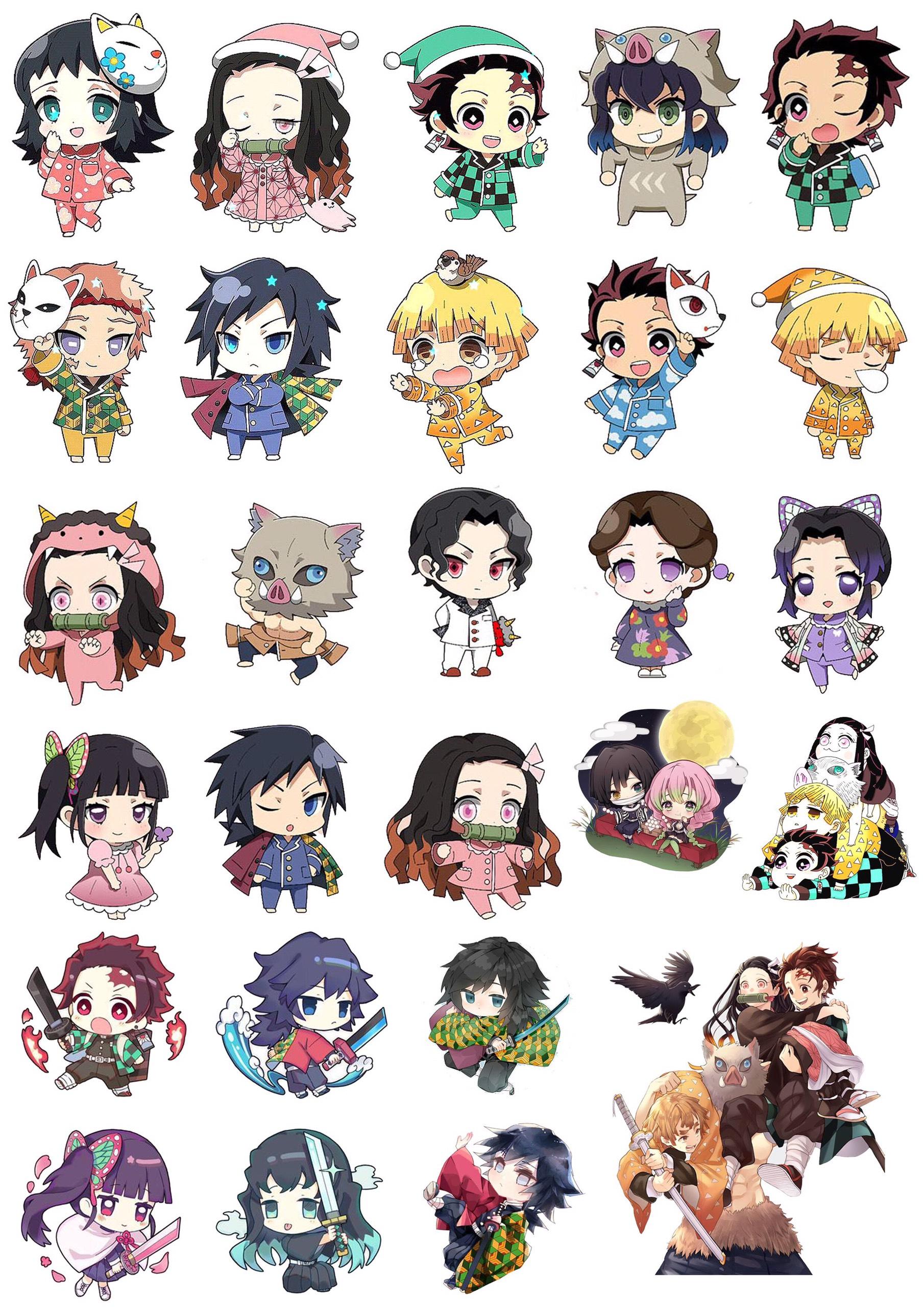 100 ảnh sticker Kimetsu no Yaiba
