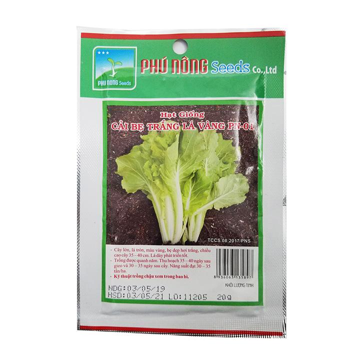 Hạt giống cải bẹ trắng lá vàng PN-01 (20g/gói)