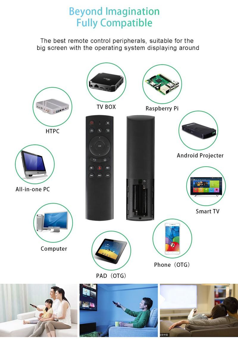 Chuột bay tìm kiếm giọng nói Remote Mouse G20s - có chức năng điều khiển cử chỉ pin Energizer