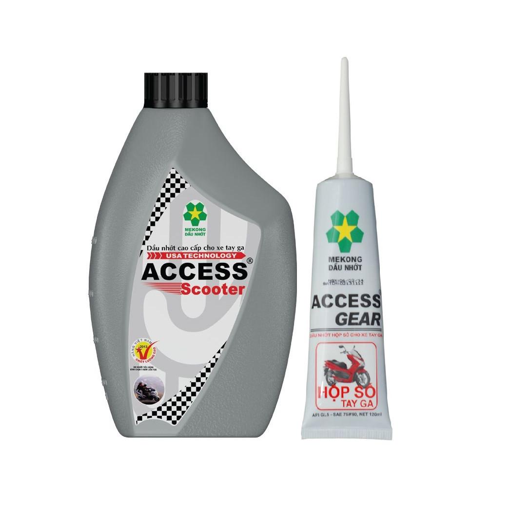 Combo nhớt xe tay ga cao cấp Mekong ACCESS Scooter 800ml tặng kèm nhớt hộp số ACCESS Gear Oil 120ml