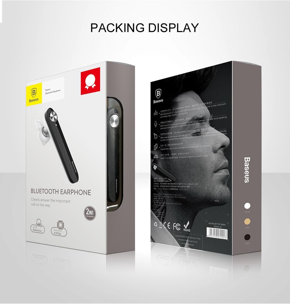 Tai nghe bluetooth cao cấp thương hiệu Baseus A01 chuyên đàm thoại chống ồn lọc âm cực tốt - Hàng nhập khẩu