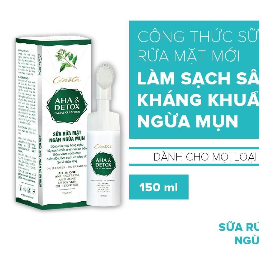 Sữa rửa mặt Cenota AHA Detox 150ml