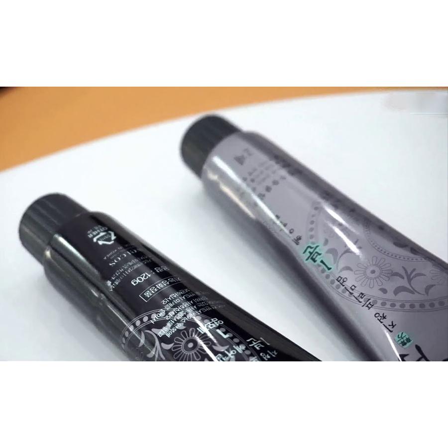 Nhuộm phủ bạc nhanh 1 phút Jichung 1 Minute Hair Color 120g (màu nâu) Tặng Móc khoá