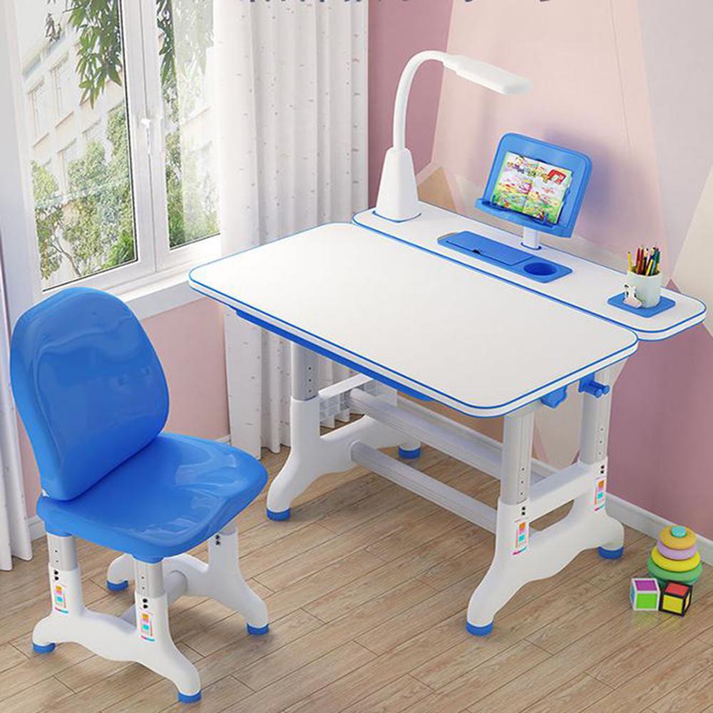 Combo Bộ bàn ghế chống gù chống cận và đèn không dây 3 chế độ - Bàn ghế chỉnh độ cao - mặt bàn phủ chống lóa - nghiêng 20-45 độ để viết vẽ
