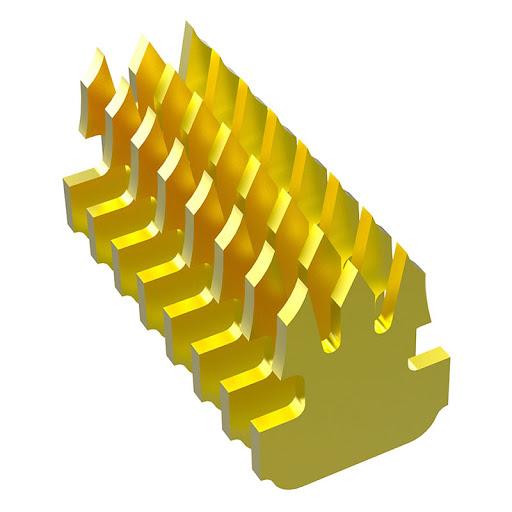 Đầu hạt bấm mạng RJ45 UTP Tenda CAT 6E mạ vàng 24K chống nổ, chống cháy, chống nhiễu (100 đầu/ 1 hộp) - Hàng Chính Hãng