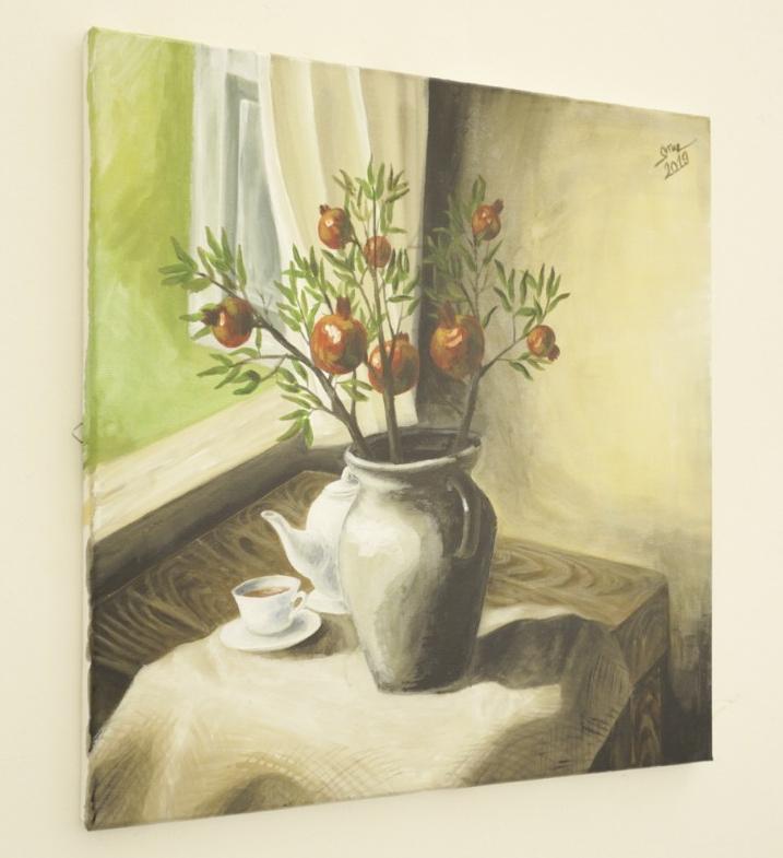Tranh sơn dầu họa sỹ sáng tác vẽ tay: SỚM MÙA THU