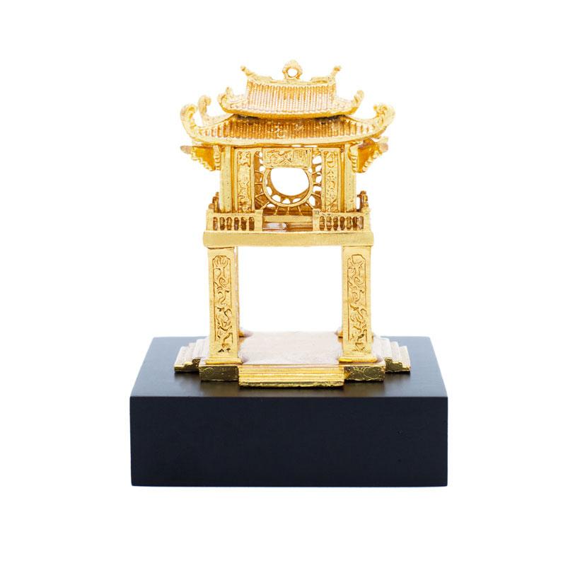Quà tặng lưu niệm Việt Nam độc đáo : Khuê Văn Các mạ vàng 24K