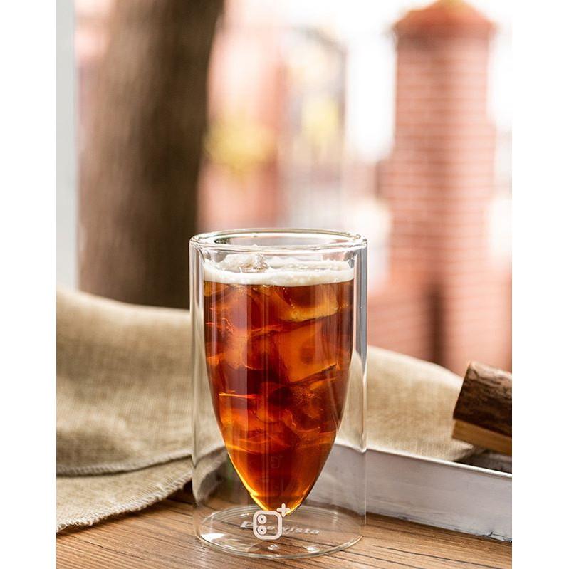 """Ly cà phê 2 lớp thủy tinh cao cấp  B+ """"Bullet"""" double wall glass cup - Chính hãng Brewista"""