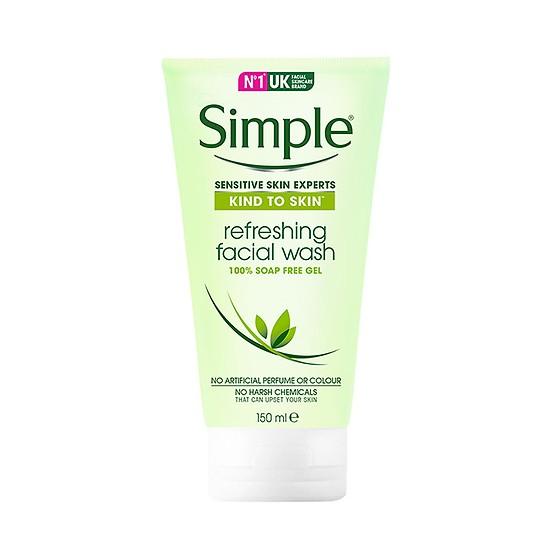Sữa rửa mặt Simple Dạng Gel 150ml [ Được Mask 3W Clinic ]