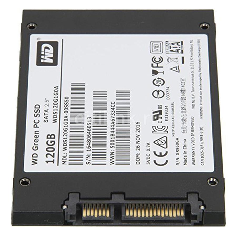 Ổ Cứng SSD WD Green 120GB 3D NAND - WDS120G2G0A - Hàng Chính Hãng