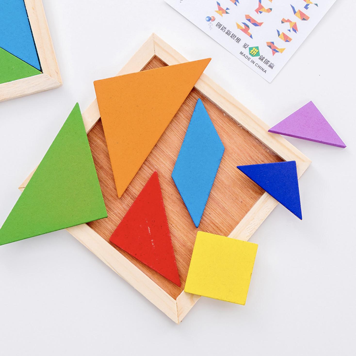 Bộ đồ chơi ghép hình bằng gỗ cho bé - Bộ đồ chơi ghép hình 17 mẫu ghép độc  đáo - Lắp ráp Thương hiệu OEM
