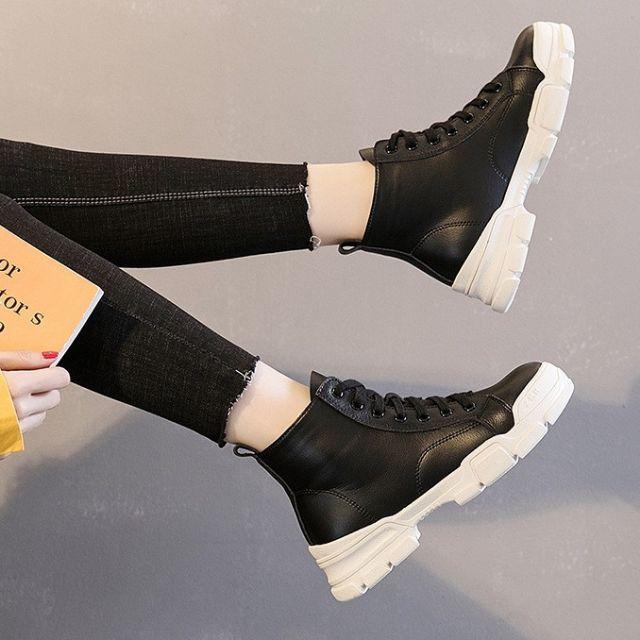 Giày Bốt cao cổ phong cách Hàn Quốc MS 6426