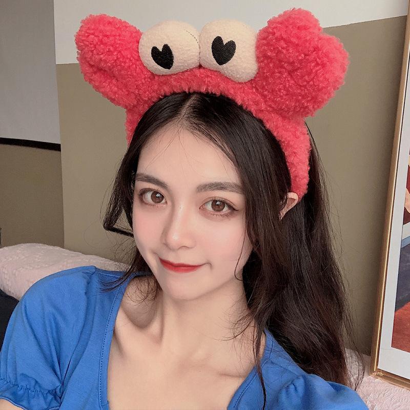 Băng Đô Nữ Cài Tóc Rửa Mặt Vải Bông Xù Mềm Mại Càng Cua Cute BD22