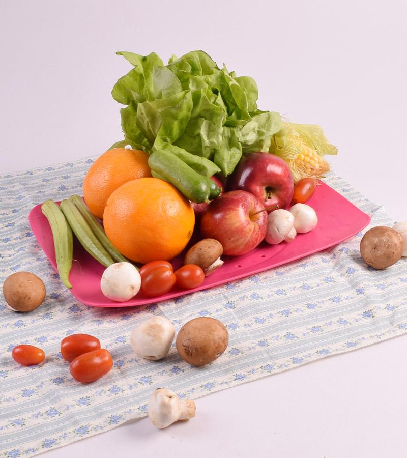 Đĩa nhựa đa năng có thể thoát nước, đựng rau, hoa quả trái cây