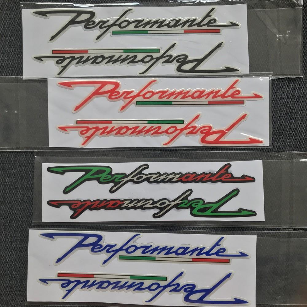 Tem chữ nổi Performante trang trí nhiều loại xe ( Giao Kiểu Ngẫu Nhiên )
