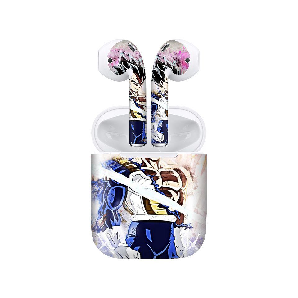 Miếng dán skin chống bẩn cho tai nghe AirPods in hình Dragon Ball - Vegeta 4 - 7vnr65 (bản không dây 1 và 2)