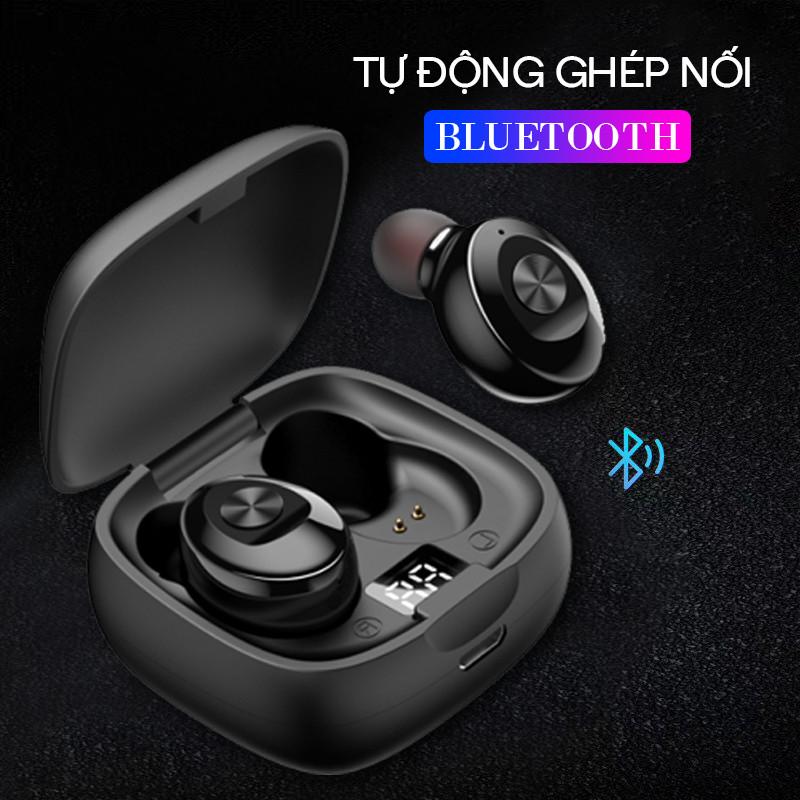 Tai Nghe Bluetooth 5.0 không dây nhét tai mini thể thao Gaming Chống Nước IPX5 - Đèn LED hiển thị Phần Trăm Pin - Hàng chính hãng - TNBT04