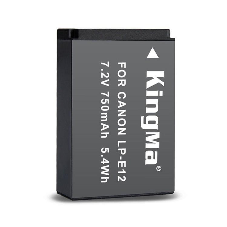 Bộ 2 Pin KingMa LP E12 750 mAh chính hãng + dock sạc, dây sạc dành cho máy ảnh Canon - HÀNG CHÍNH HÃNG