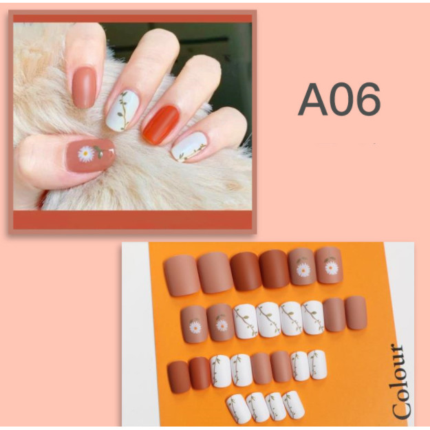 Bộ 24 móng tay giả nail thơi trang như hình (A06)